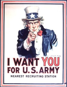 Not necessarily for the Army, but to get involved!